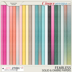 Fearless - Solid & Ombre Papers - by Neia Scraps