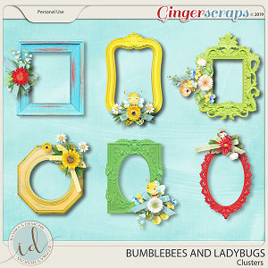 Bumblebees And Ladybugs Clusters by Ilonka's Designs