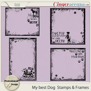 My best Dog Stamps & Frames