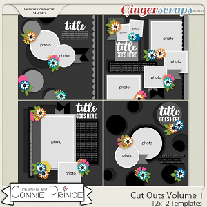 Cut Outs Volume 1 - 12x12 Temps (CU Ok) by Connie Prince