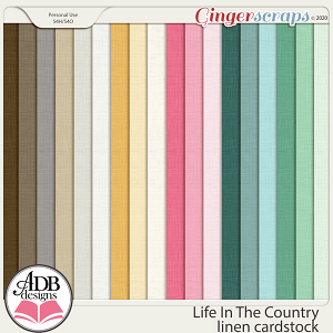 Life In The Country Solid Papers by ADB Designs