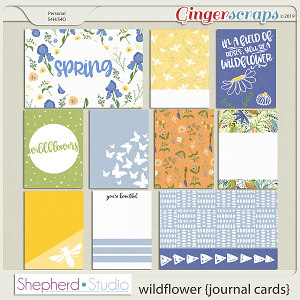 Wildflower Journal Cards for Pocket Scrapbooking by Shepherd Studio
