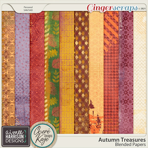 Autumn Treasures Blended Papers by Chere Kaye Designs and Aimee Harrison