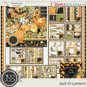 Jack O Lantern Digital Scrapbooking Bundle