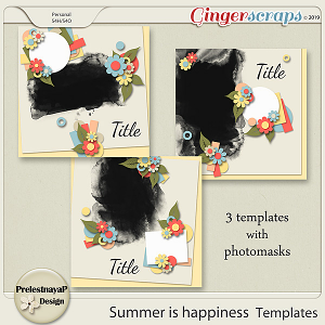Summer is happiness Templates