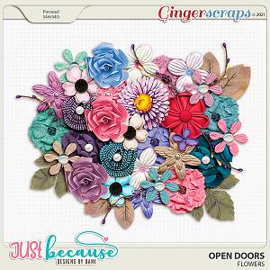 Open Doors Flowers by JB Studio