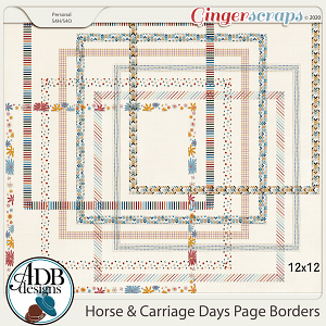 Horse & Carriage Days Page Borders by ADB Designs