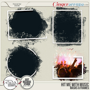 Hit Me with Music - Masks & Frames - by Neia Scraps & JB Studio