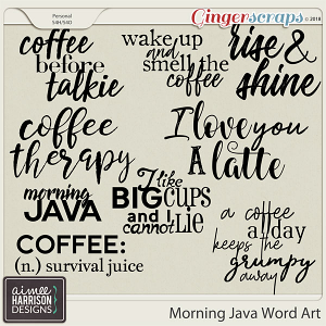 Morning Java Word Art by Aimee Harrison