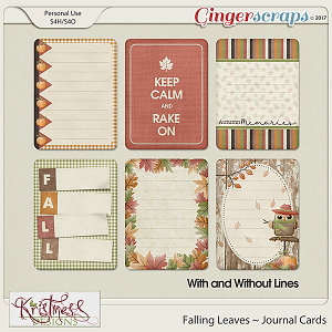 Falling Leaves Journal Cards