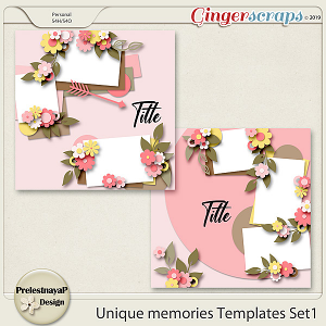 Unique memories Templates Set1