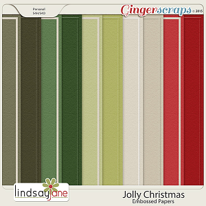 Jolly Christmas Embossed Papers by Lindsay Jane