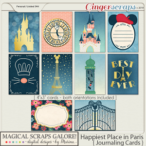 Happiest Place in Paris (journaling cards)