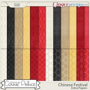 Chinese Festival - Extra Papers by Connie Prince