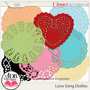 Love Song Doilies by ADB Designs