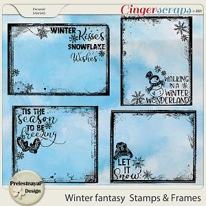 Winter fantasy Stamps & Frames