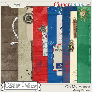 On My Honor - Messy Papers by Connie Prince