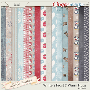 Winter's Frost and Warm Hugs Papers