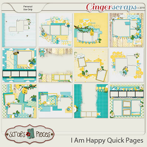I Am Happy Quick Pages by Scraps N Pieces
