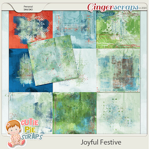 Joyful Festive Painted Papers