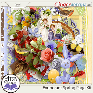 Exuberant Spring Page Kit by ADB Designs