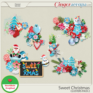 Sweet Christmas - clusters pack 2