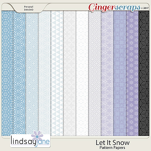 Let It Snow Pattern Papers by Lindsay Jane