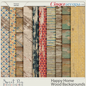 Happy Home Wood Backgrounds
