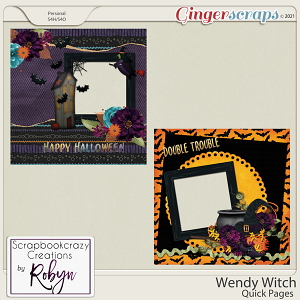 Wendy Witch Quick Pages by Scrapbookcrazy Creations