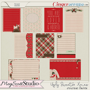 Ugly Sweater Christmas Journal Cards