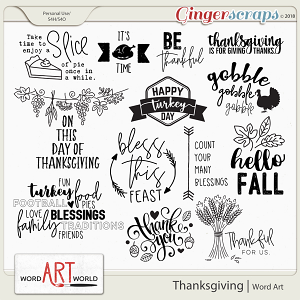 Thanksgiving Word Art