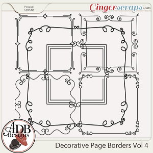 Heritage Resource - Decorative Page Borders Vol 04 by ADB Designs