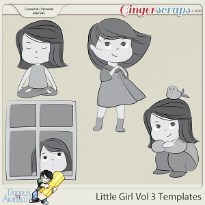 Doodles By Americo: Little Girl Vol 3 Templates
