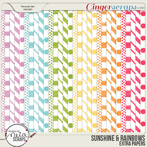 Sunshine & Rainbows - Extra Papers - by Neia Scraps
