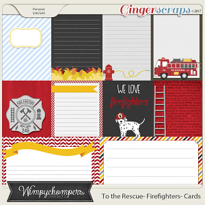 To the Rescue- Firefighters Cards