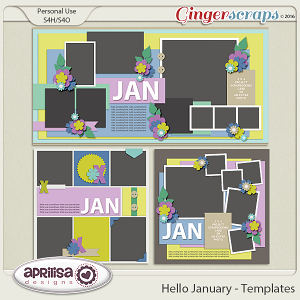 Hello January - Template Pack