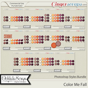 Color Me Fall CU Photoshop Styles Bundle