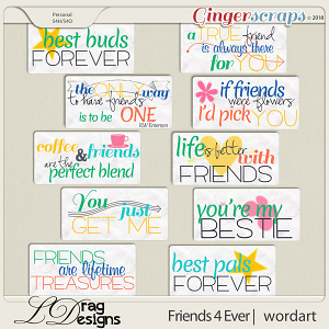 Friends For Ever: Wordart by LDragDesigns