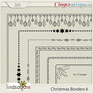 Christmas Borders 6 by Lindsay Jane