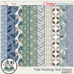 Tide Pooling: Sea Dream Patterned Papers by ADB Designs