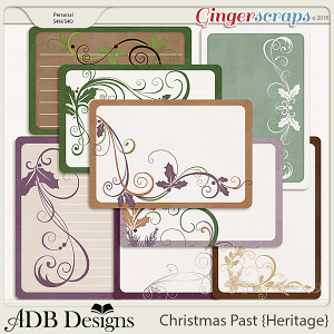 Christmas Past Journal Cards by ADB Designs