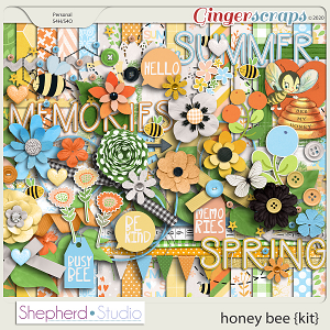 Honey Bee Digital Scrapbooking Kit by Shepherd Studio