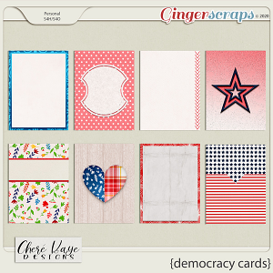 Democracy Cards by Chere Kaye Designs