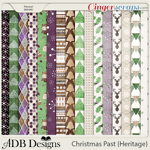 Christmas Past Pattern Papers by ADB Designs