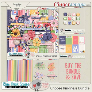 Choose Kindness Bundle by Luv Ewe Designs and Blue Heart Scraps