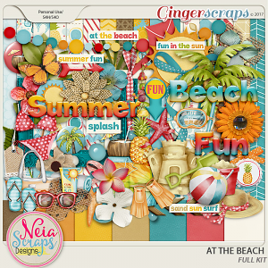 At The Beach - Kit - By Neia Scraps