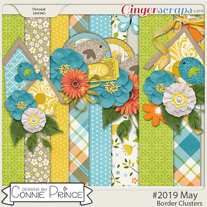 #2019 May - Border Clusters by Connie Prince