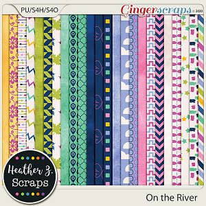 On the River PAPERS by Heather Z Scraps