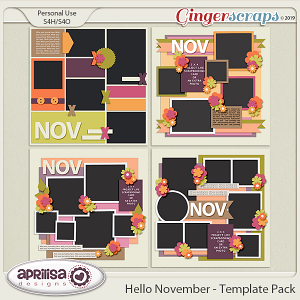 Hello November - Template Pack