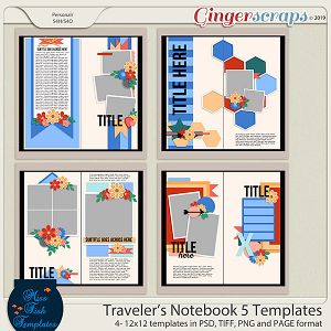 Travelers Notebook 5 Templates by Miss Fish